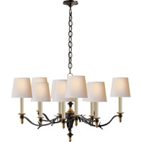 Visual Comfort TOB5109BR/HAB-NP Thomas OBrien Chandler 10 Light 37 inch Blackened Rust with Antique Brass Chandelier Ceiling Light