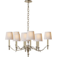 Visual Comfort Thomas OBrien Chandler 10 Light Chandelier in Burnished Silver Leaf TOB5109BSL-NP