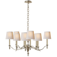 Visual Comfort TOB5109BSL-NP Thomas O'Brien Chandler 10 Light 37 inch Burnished Silver Leaf Chandelier Ceiling Light