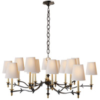 Visual Comfort TOB5111BR/HAB-NP Thomas O'Brien Chandler 15 Light 47 inch Blackened Rust with Antique Brass Chandelier Ceiling Light