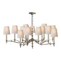 Visual Comfort Thomas OBrien Chandler 15 Light Chandelier in Burnished Silver Leaf TOB5111BSL-NP
