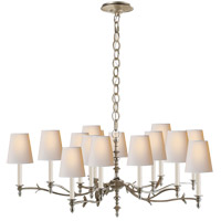 Thomas O'Brien Chandler 15 Light 47 inch Burnished Silver Leaf Chandelier Ceiling Light