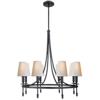 Visual Comfort TOB5114AI-NP Thomas OBrien Michel 8 Light 30 inch Aged Iron Chandelier Ceiling Light, Thomas O''Brien, Medium, Natural Paper Shade