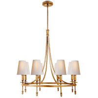 Thomas OBrien Michel 8 Light 30 inch Gild Chandelier Ceiling Light, Thomas O''Brien, Medium, Natural Paper Shade