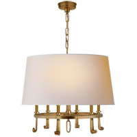 Visual Comfort TOB5135HAB-NP Thomas Obrien Calliope 6 Light 24 inch Hand-Rubbed Antique Brass Hanging Shade Ceiling Light