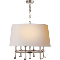 Thomas OBrien Calliope 6 Light 24 inch Polished Nickel Hanging Shade Ceiling Light in (None)