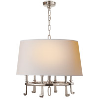 Visual Comfort TOB5135PN-NP Thomas Obrien Calliope 6 Light 24 inch Polished Nickel Hanging Shade Ceiling Light