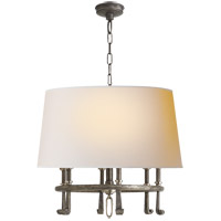 Visual Comfort TOB5135SN/AN-NP Thomas O'Brien Calliope 6 Light 24 inch Sheffield Nickel with Antique Nickel Hanging Shade Ceiling Light
