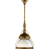 Visual Comfort Thomas OBrien Garey 1 Light Pendant in Hand-Rubbed Antique Brass TOB5141HAB-CG