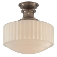 Visual Comfort Thomas OBrien Milton Road 1 Light Flush Mount in Antique Nickel TOB5150AN-WG