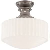 Visual Comfort TOB5150AN-WG Thomas O'Brien Milton Road 1 Light 14 inch Antique Nickel Convertible Flush Mount Ceiling Light