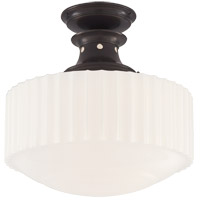 Visual Comfort TOB5150BZ-WG Thomas O'Brien Milton Road 1 Light 14 inch Bronze Convertible Flush Mount Ceiling Light