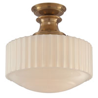 Visual Comfort Thomas OBrien Milton Road 1 Light Flush Mount in Hand-Rubbed Antique Brass TOB5150HAB-WG
