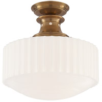 Thomas Obrien Milton Road 1 Light 14 inch Hand-Rubbed Antique Brass Convertible Flush Mount Ceiling Light