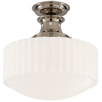 Visual Comfort TOB5150PN-WG Thomas O'Brien Milton Road 1 Light 14 inch Polished Nickel Convertible Flush Mount Ceiling Light