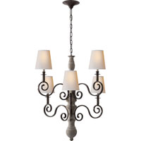 Visual Comfort Thomas OBrien Lillie Road 6 Light Chandelier in Belgian White  TOB5200BW-NP