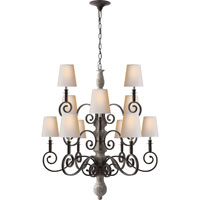 Visual Comfort Thomas OBrien Lillie Road 12 Light Chandelier in Belgian White  TOB5201BW-NP