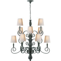 Visual Comfort Thomas OBrien Lillie Road 12 Light Chandelier in Dark Green  TOB5201DG-NP