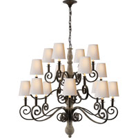 Visual Comfort Thomas OBrien Lillie Road 16 Light Chandelier in Belgian White  TOB5203BW-NP