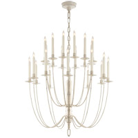Thomas O'Brien Erika 24 Light 29 inch Belgian White Chandelier Ceiling Light