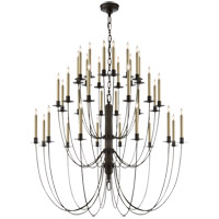 Visual Comfort Thomas OBrien Erika 36 Light Chandelier in Aged Iron with Wax TOB5206AI