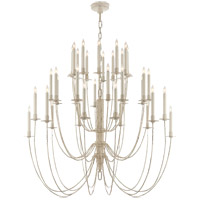 Visual Comfort Thomas OBrien Erika 36 Light Chandelier in Belgian White TOB5206BW