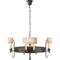 Visual Comfort Thomas OBrien Auguste 8 Light Chandelier in Aged Iron with Wax TOB5216AI-NP
