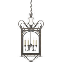 Visual Comfort Thomas OBrien Gabriella 4 Light Ceiling Lantern in Aged Iron with Wax TOB5243AI