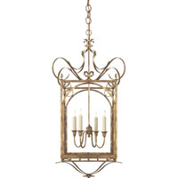 Visual Comfort Thomas OBrien Gabriella 4 Light Ceiling Lantern in Gilded Iron with Wax TOB5243GI