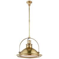 Visual Comfort TOB5261HAB-FG Thomas OBrien Patrick 1 Light 18 inch Hand-Rubbed Antique Brass Pendant Ceiling Light