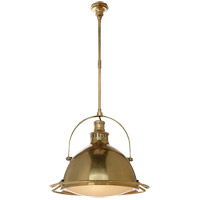 Visual Comfort TOB5262HAB-FG Thomas OBrien Patrick 2 Light 20 inch Hand-Rubbed Antique Brass Pendant Ceiling Light