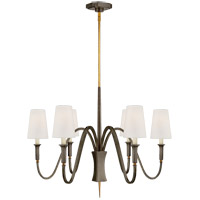 Visual Comfort TOB5270BZ/HAB-L Thomas O'Brien Delphia 6 Light 35 inch Bronze and Hand-Rubbed Antique Brass Chandelier Ceiling Light, Small