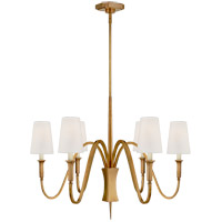 Visual Comfort TOB5270HAB-L Thomas O'Brien Delphia 6 Light 35 inch Hand-Rubbed Antique Brass Chandelier Ceiling Light, Small