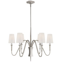 Visual Comfort TOB5270PN-L Thomas O'Brien Delphia 6 Light 35 inch Polished Nickel Chandelier Ceiling Light, Small