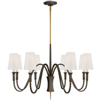 Visual Comfort TOB5271BZ/HAB-L Thomas OBrien Delphia 8 Light 38 inch Bronze and Hand-Rubbed Antique Brass Chandelier Ceiling Light, Medium