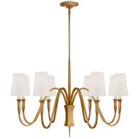 Visual Comfort TOB5271HAB-L Thomas OBrien Delphia 8 Light 38 inch Hand-Rubbed Antique Brass Chandelier Ceiling Light, Medium
