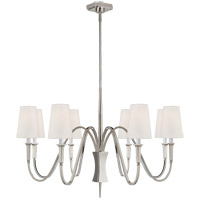 Visual Comfort TOB5271PN-L Thomas OBrien Delphia 8 Light 38 inch Polished Nickel Chandelier Ceiling Light, Medium