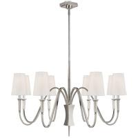 Visual Comfort TOB5271PN-L Thomas OBrien Delphia 8 Light 42 inch Polished Nickel Chandelier Ceiling Light Medium
