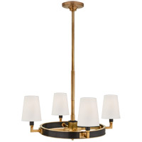Thomas OBrien Watson 4 Light 28 inch Bronze and Hand-Rubbed Antique Brass Chandelier Ceiling Light, Small Ring