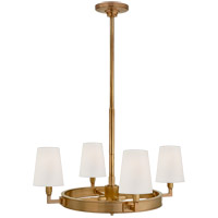 Thomas OBrien Watson 4 Light 28 inch Hand-Rubbed Antique Brass Chandelier Ceiling Light, Small Ring