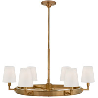 Thomas OBrien Watson 6 Light 36 inch Hand-Rubbed Antique Brass Chandelier Ceiling Light, Medium Ring