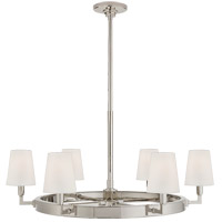 Visual Comfort TOB5281PN-L Thomas O'Brien Watson 6 Light 36 inch Polished Nickel Chandelier Ceiling Light, Medium Ring photo thumbnail