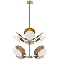 Thomas OBrien Osiris 8 Light 24 inch Bronze and Hand-Rubbed Antique Brass Chandelier Ceiling Light, Medium Reflector