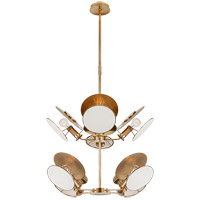Thomas OBrien Osiris 8 Light 24 inch Hand-Rubbed Antique Brass Chandelier Ceiling Light, Medium Reflector