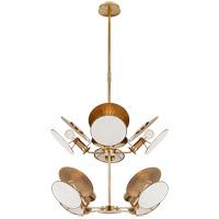 Visual Comfort TOB5288HAB-L Thomas OBrien Osiris 8 Light 33 inch Hand-Rubbed Antique Brass Chandelier Ceiling Light Medium Reflector