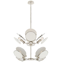 Thomas OBrien Osiris 8 Light 24 inch Polished Nickel Chandelier Ceiling Light, Medium Reflector