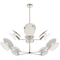 Thomas OBrien Osiris 8 Light 54 inch Polished Nickel Reflector Chandelier Ceiling Light, Large