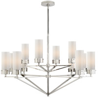 Thomas OBrien Marais 12 Light 45 inch Polished Nickel Chandelier Ceiling Light, Large
