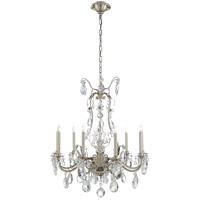 Visual Comfort Thomas OBrien Yves 9 Light Chandelier in Burnished Silver Leaf TOB5470BSL