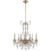 Visual Comfort Thomas OBrien Yves 9 Light Chandelier in Gilded Iron TOB5470GI